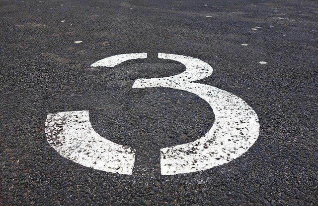 three, number, digit