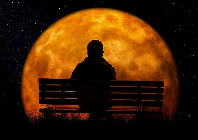 moon, age, man