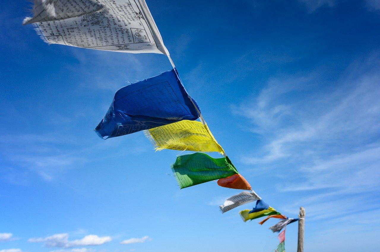 カラフルな旗