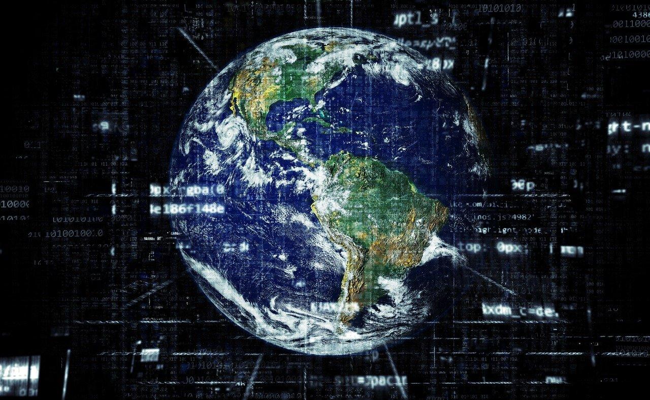 地球、インターネット、グローバリゼーション