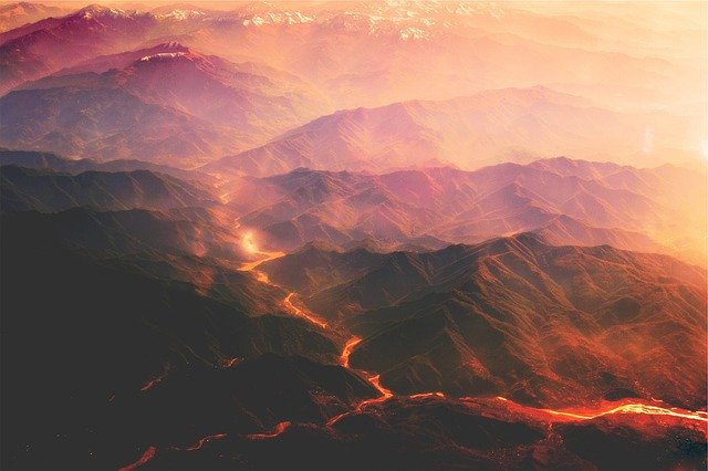 火山噴火のイメージ