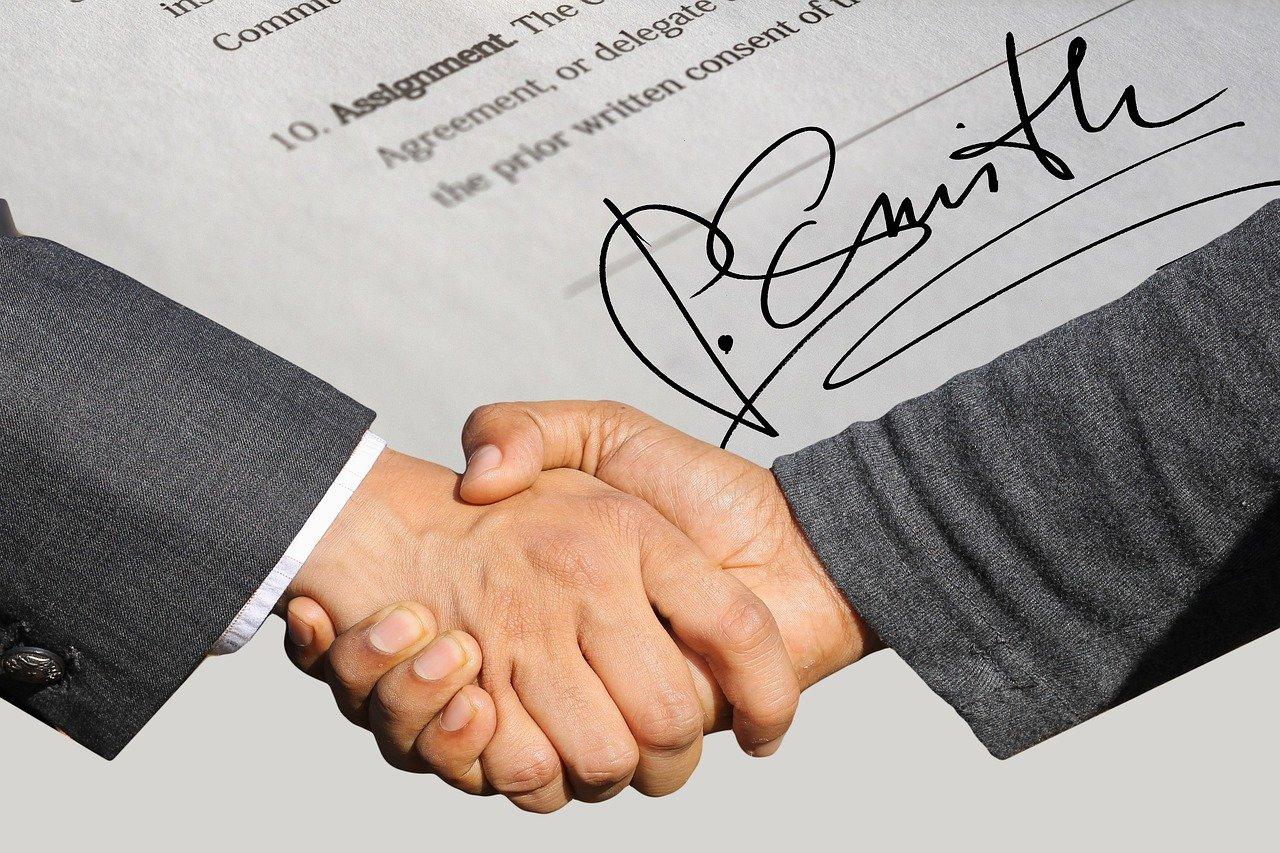 サインと握手
