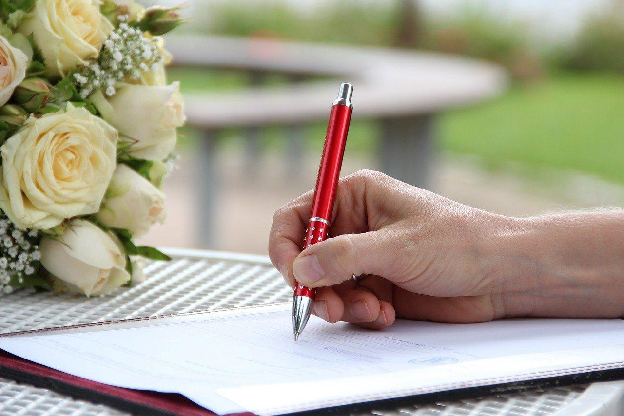 署名,手,ペン