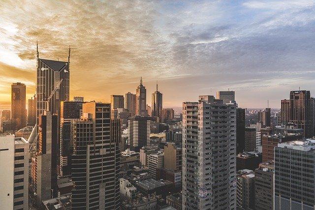 ビジネス街の風景画像