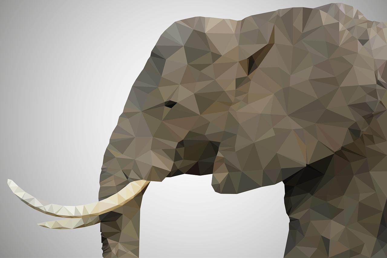 象,灰色,茶色