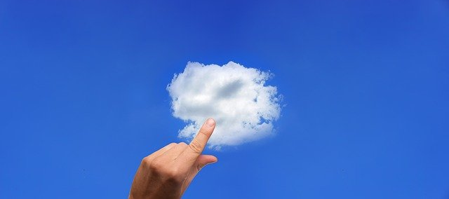 cloud, finger, touch