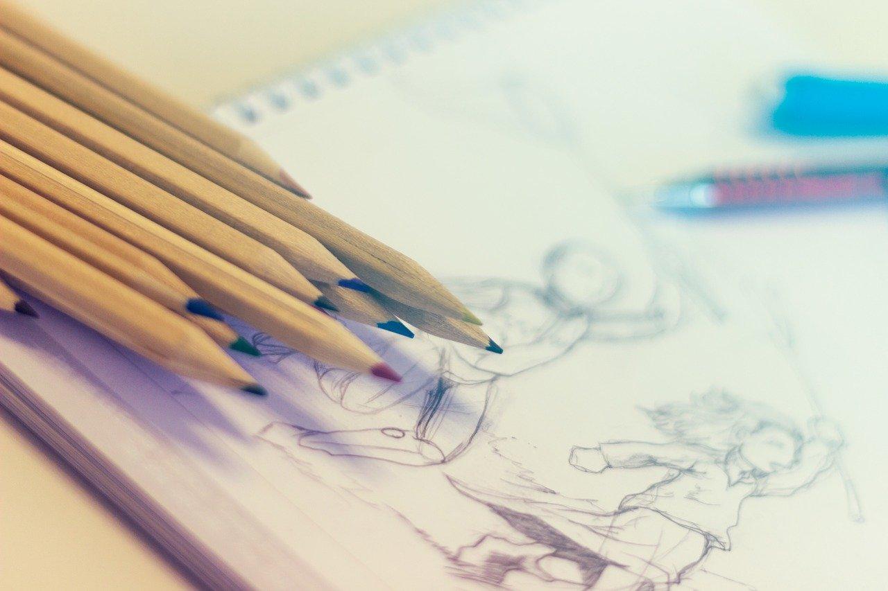 色,鉛筆,絵