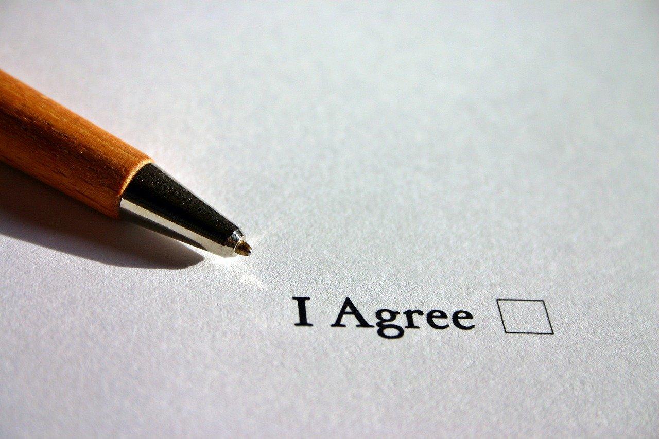 同意の文字