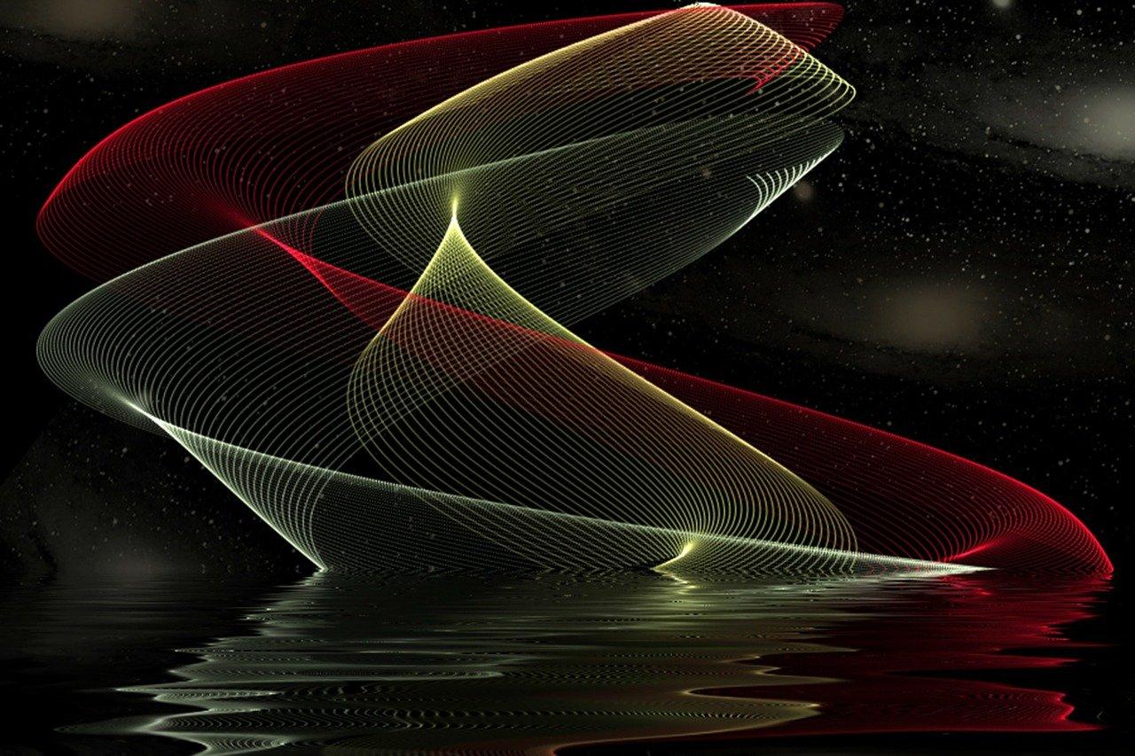 光の点,デジタルアート,フラクタル