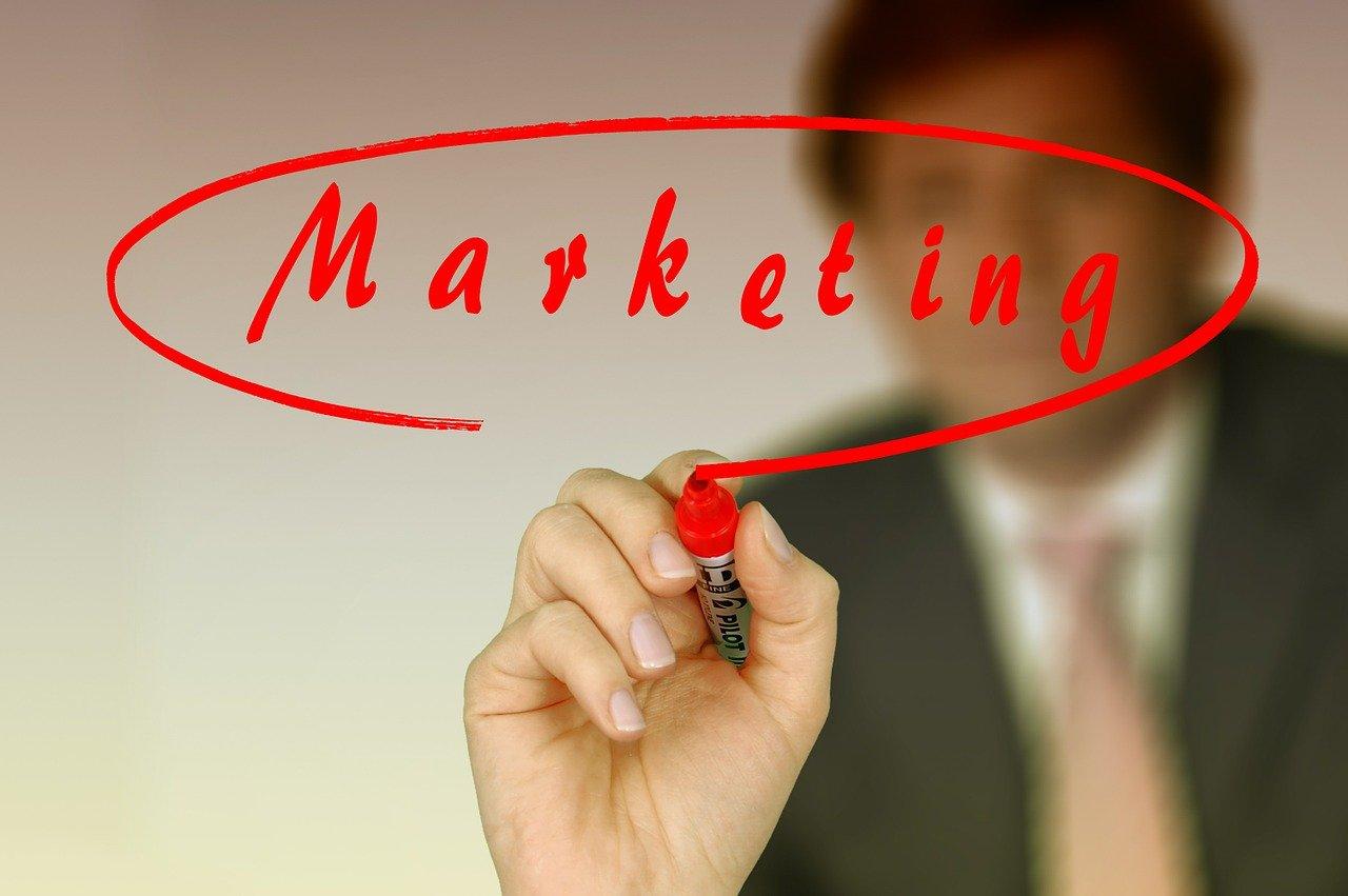 Marketingの文字