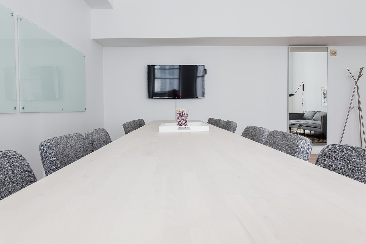 椅子、会議室、家具