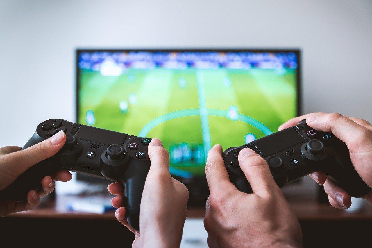 サッカーゲームの画像