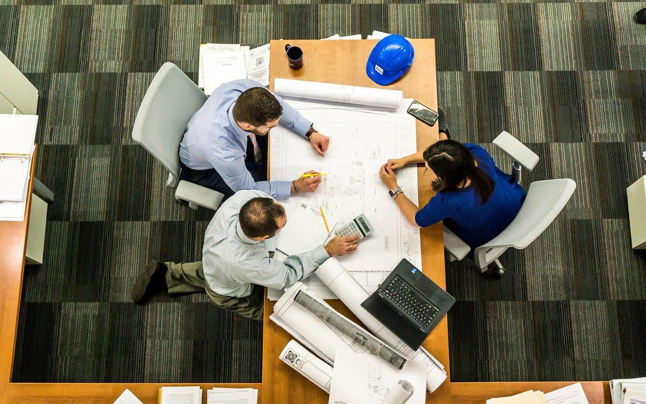 会議、ビジネス、建築家