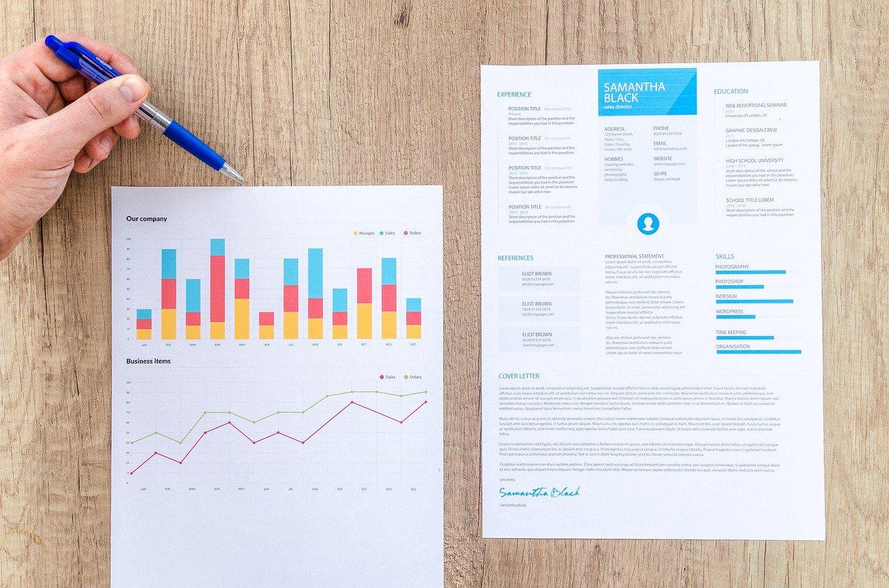 チャート、グラフ、財務