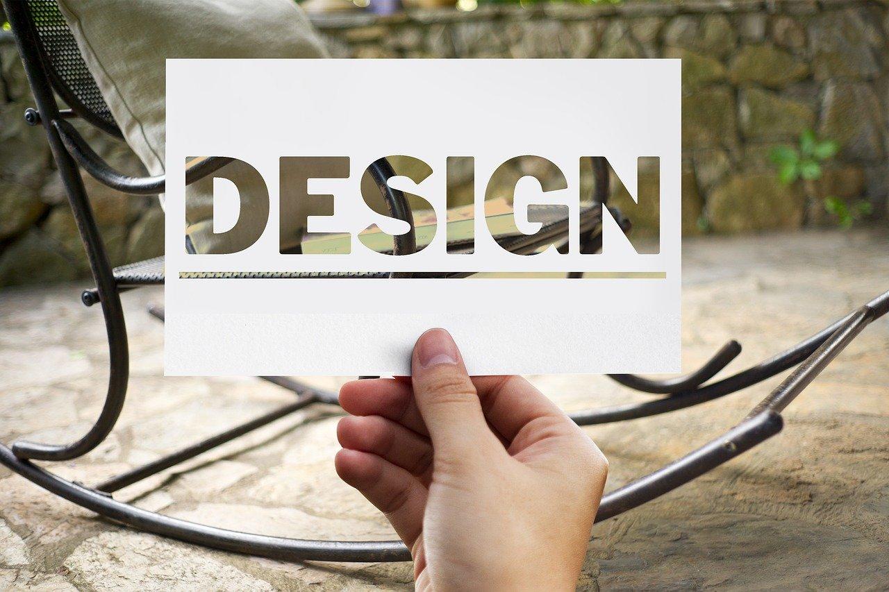 デザインと切り取られた紙