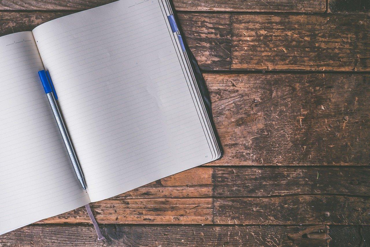 ノート、白紙