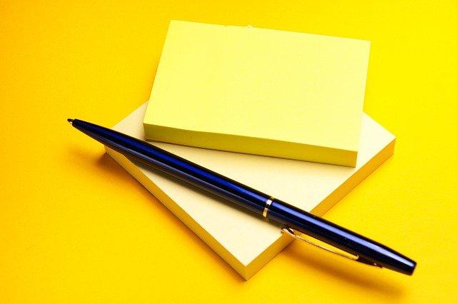 pen, note, office