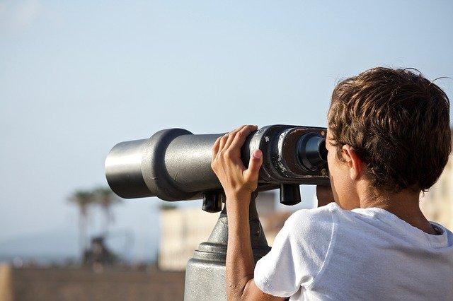 binoculars, future, outdoors