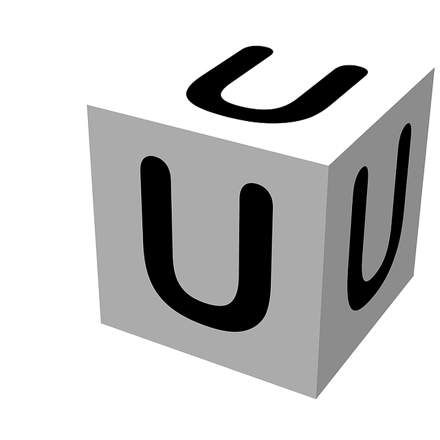 letter, block, u