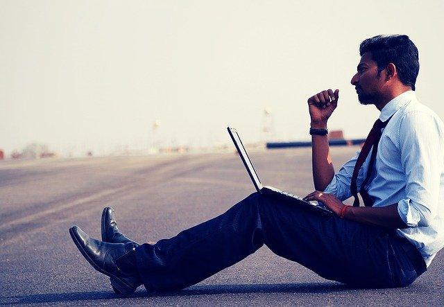 man, work, think