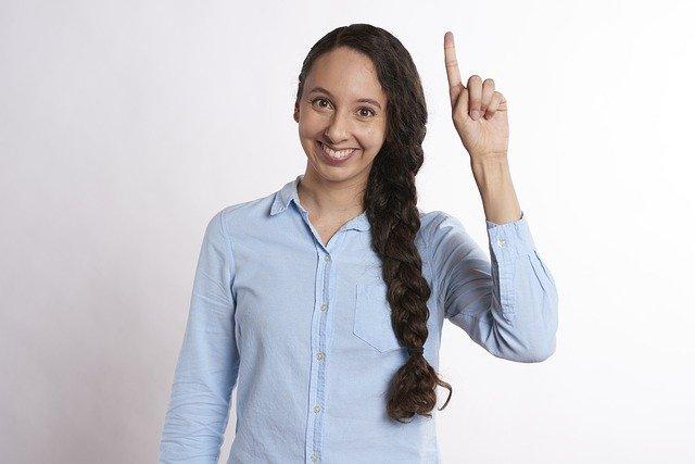 idea, pointing, raise hand