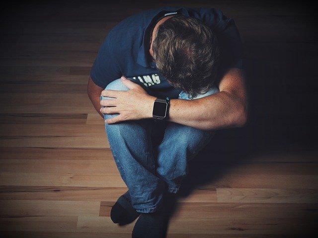 man, mourning, despair