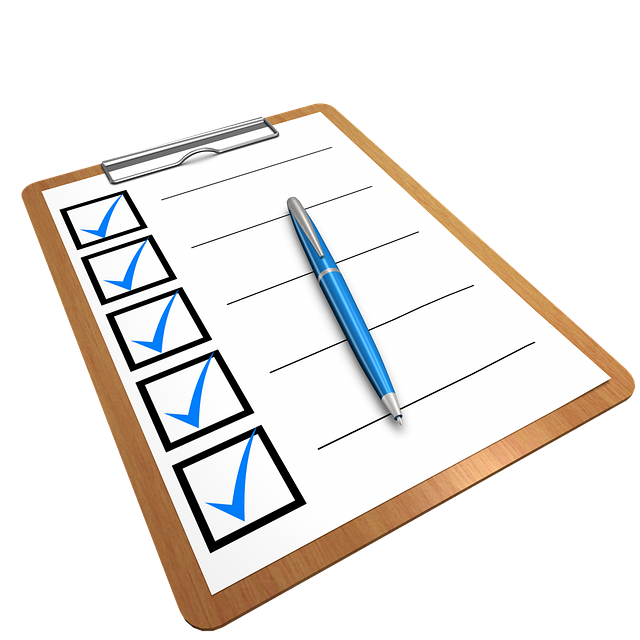 checklist, clipboard, questionnaire