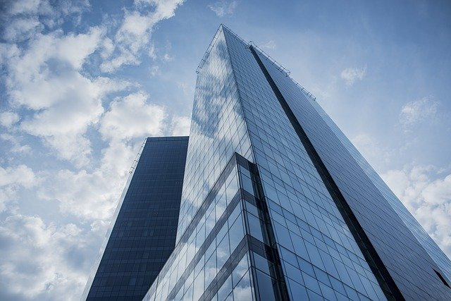 buildings, glass, reflection