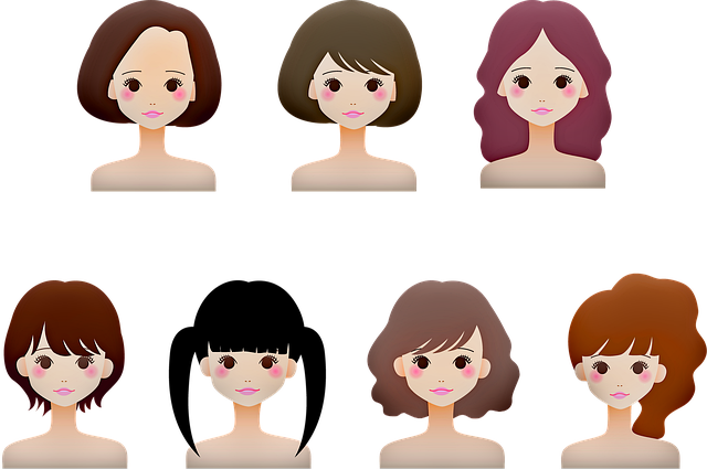 girl's heads, girl avatar, hairstyles