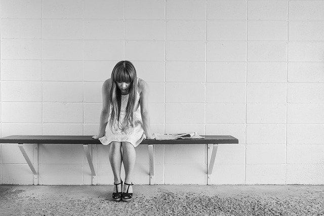 worried girl, woman, waiting