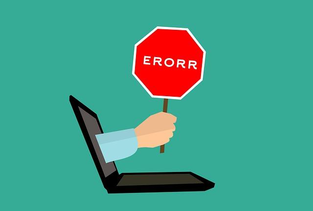 mistake, 404 error, computer